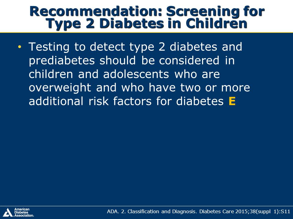 STANDARDS OF MEDICAL CARE IN DIABETES— ppt download