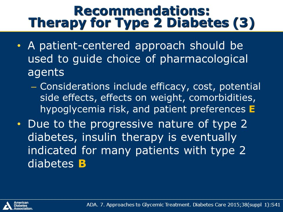 diabetes guidelines for initiating insulin therapy