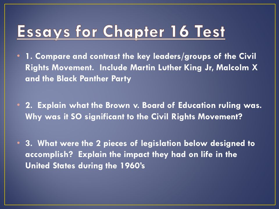 the civil rights movement ppt video online  essays for chapter 16 test