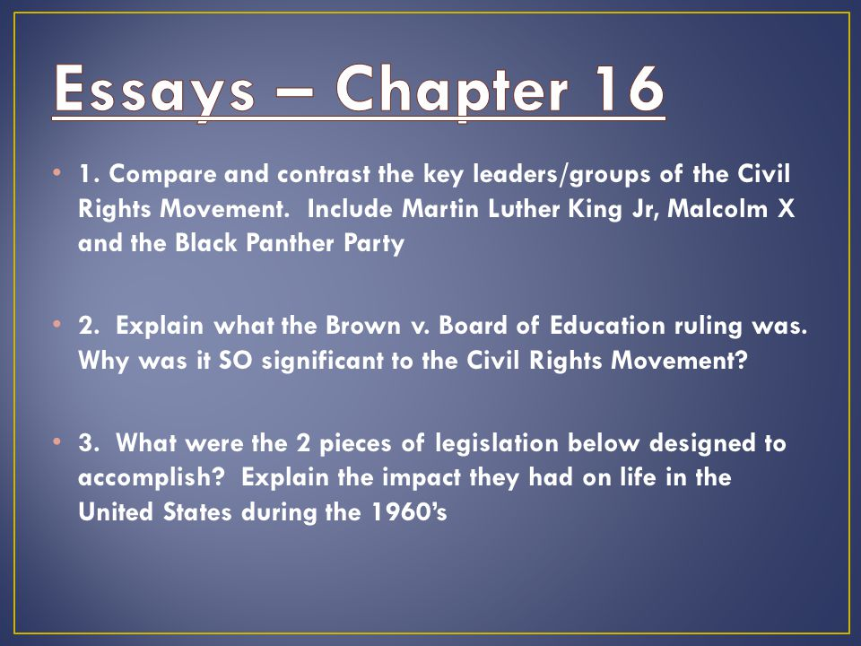 the civil rights movement ppt video online  4 essays chapter
