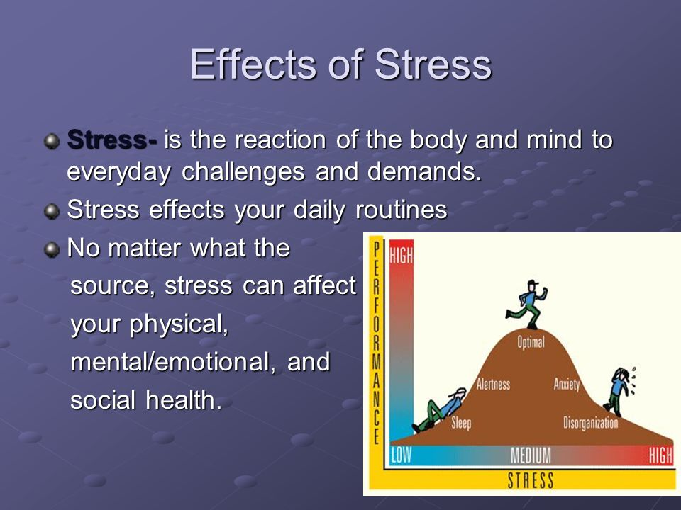 the cause and management of psychological stress