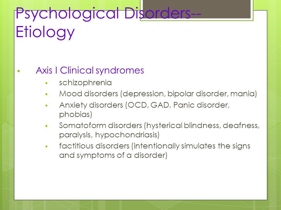 schizophrenia and b axis i