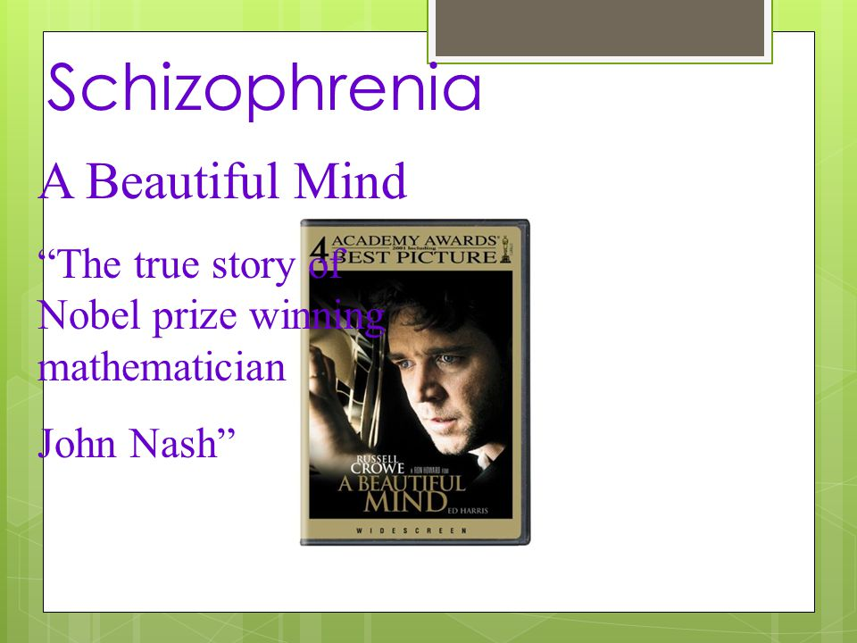a beautiful mind schizophrenia essay example