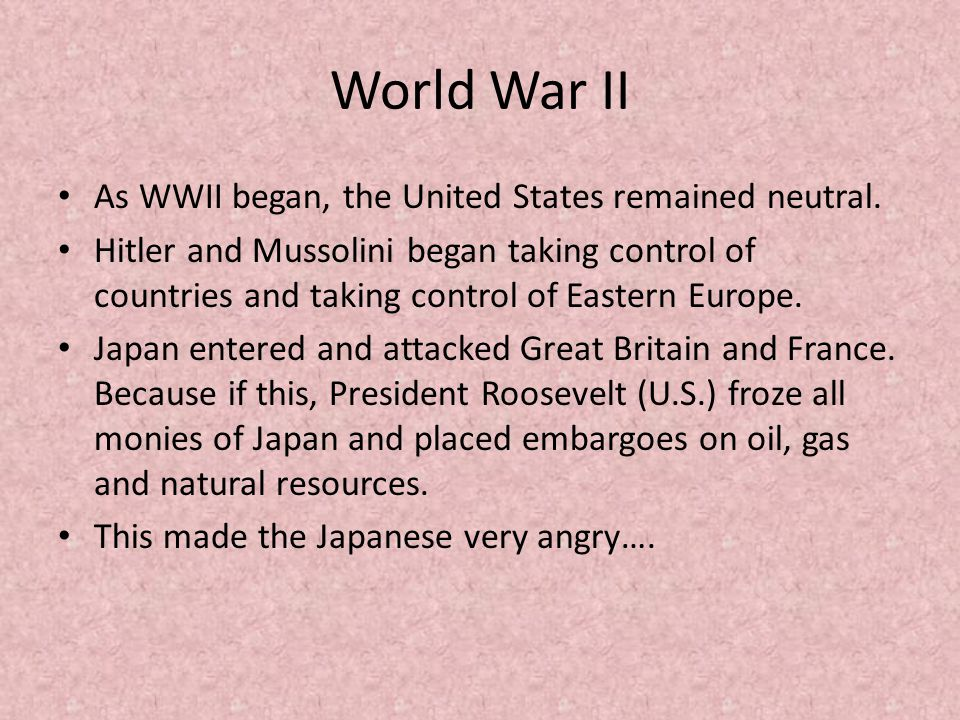 role of president roosevelt and the united states in the world war ii Franklin d roosevelt: franklin d roosevelt, 32nd president of the united states, who led the country through the great depression and world war ii.