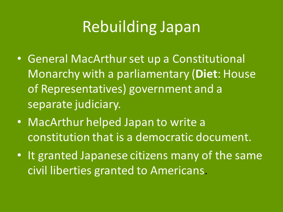 Why does Japan have a constitutional monarchy?