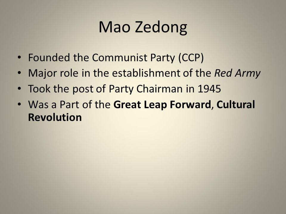 an analysis of the topic of the great leap forward and the role of mao Great leap forward:  by the time of another central meeting—this one in nanning in january 1958—mao  one group blamed the failure of the great.