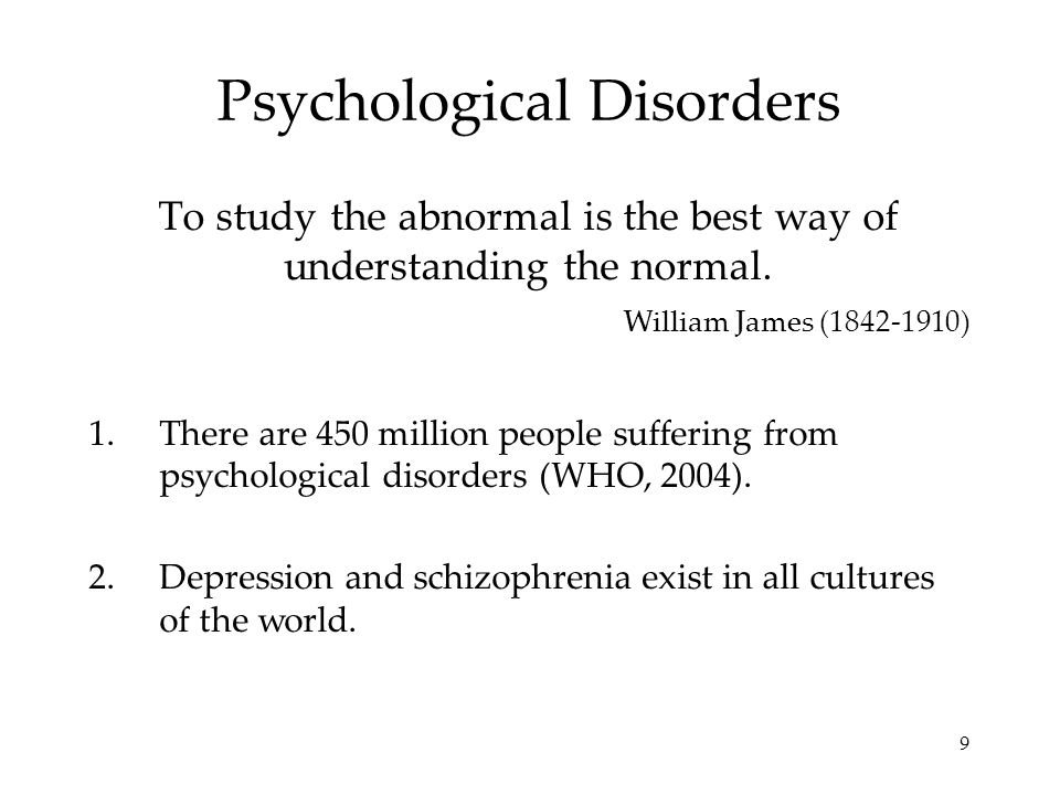 an analysis of abnormal psychology mental disorders Introduction to psychology/abnormal  or applied behavior analysis approaches and other methods supported  statistical manual of mental disorders.