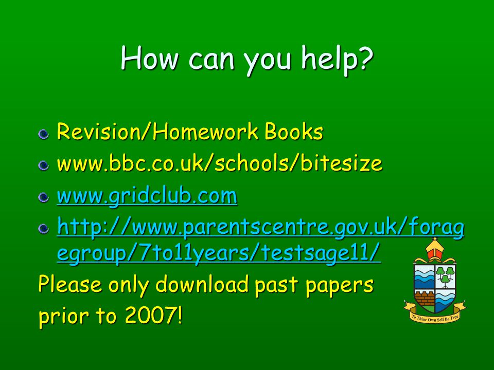 How can you help Revision/Homework Books