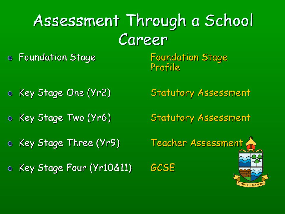 Assessment Through a School Career