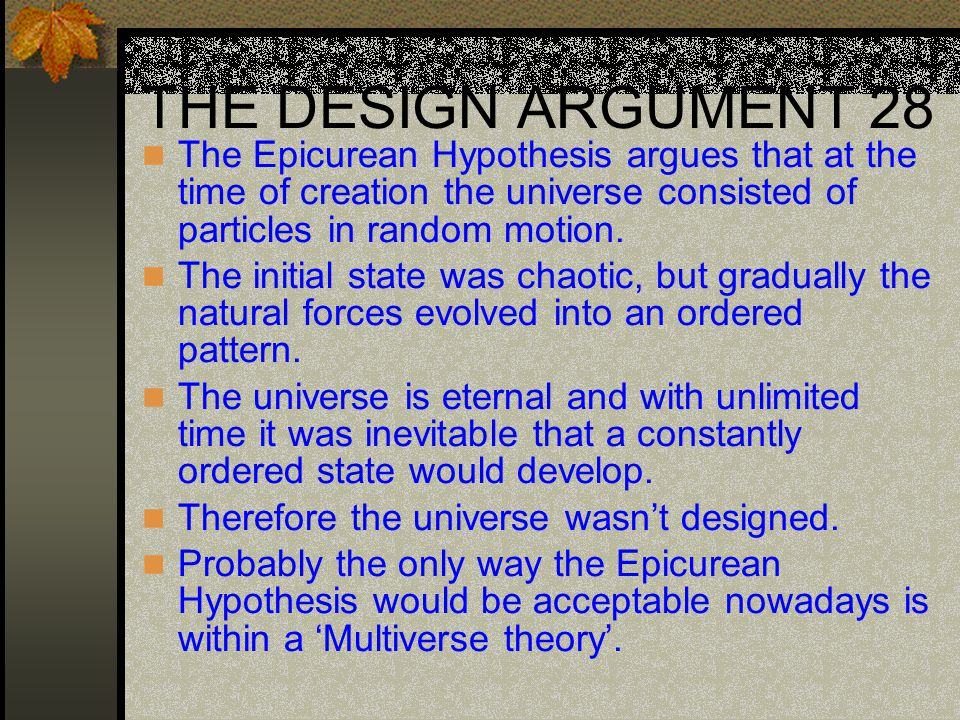 Epicurean hypothesis