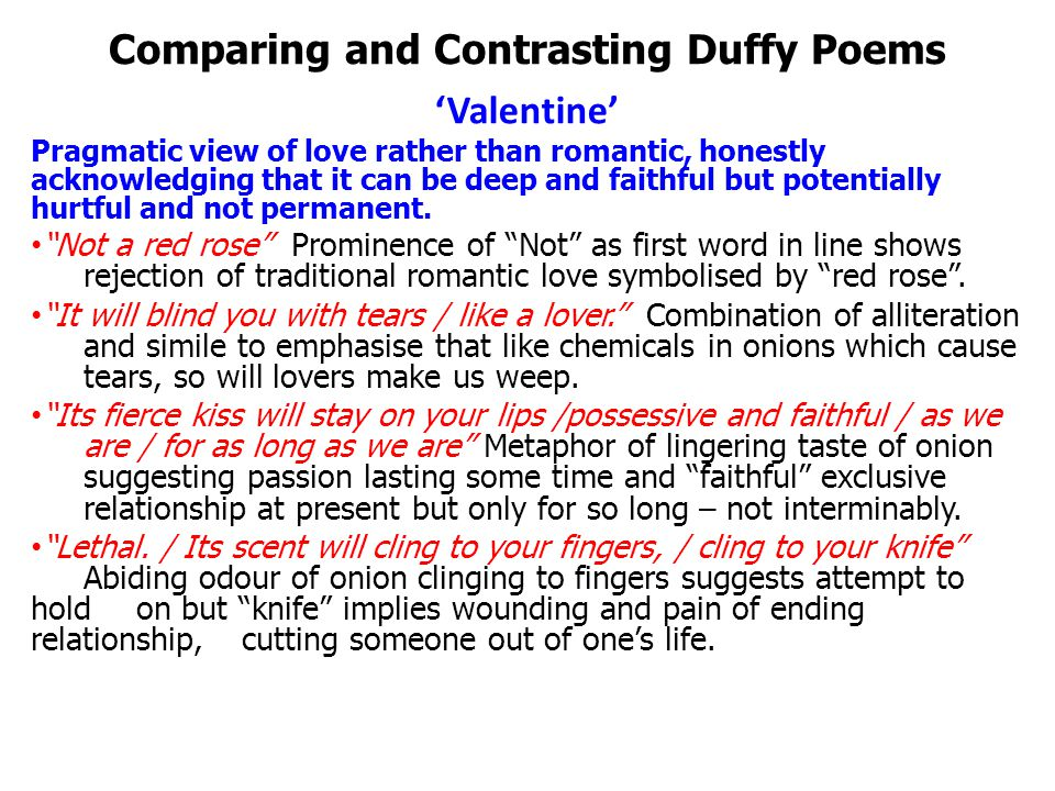 comparing love poems Free poetry comparison papers is probably a mockery of love poems of his era which focus mainly on comparing the loved i will be comparing two poems.