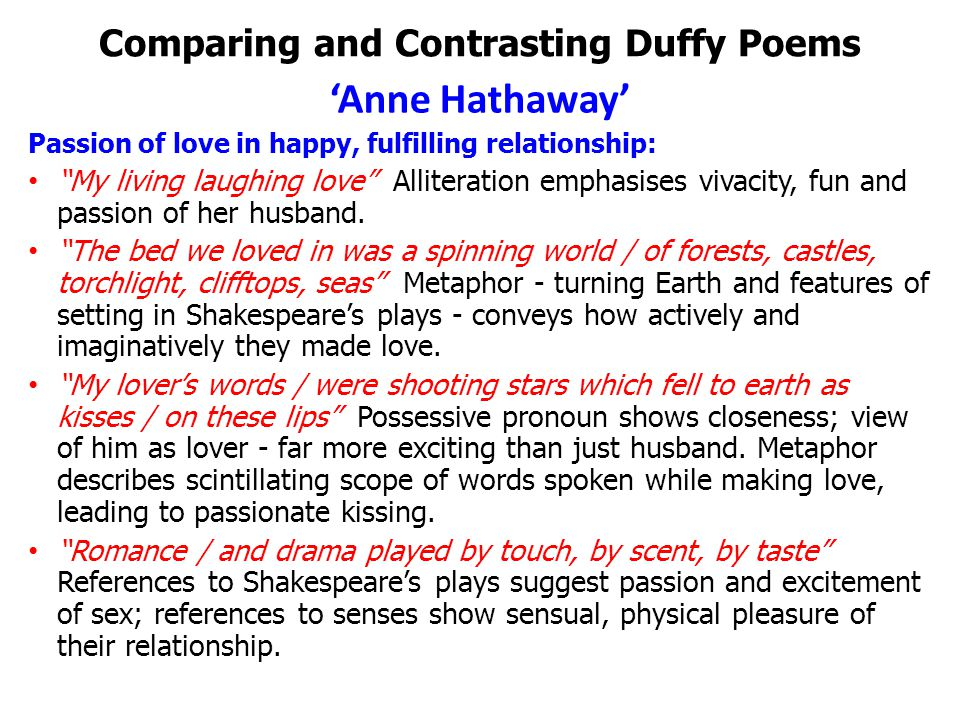 how does shakespeare compare and contrast