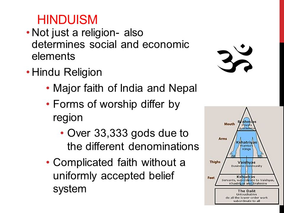 analyzing the belief system in the hindu tradition Although these traditions in india go back thousands of years, rastafarianism did  not arise as a popular belief system in jamaica until the early 20th century (c.