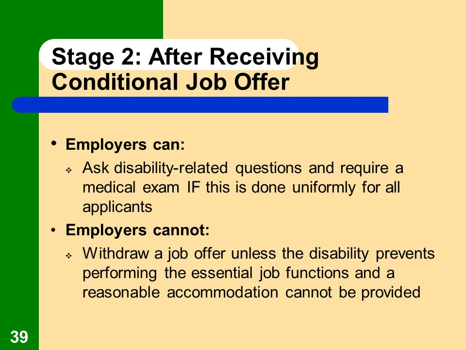 stage 2 after receiving conditional job offer - After Job Offer Questions To Ask