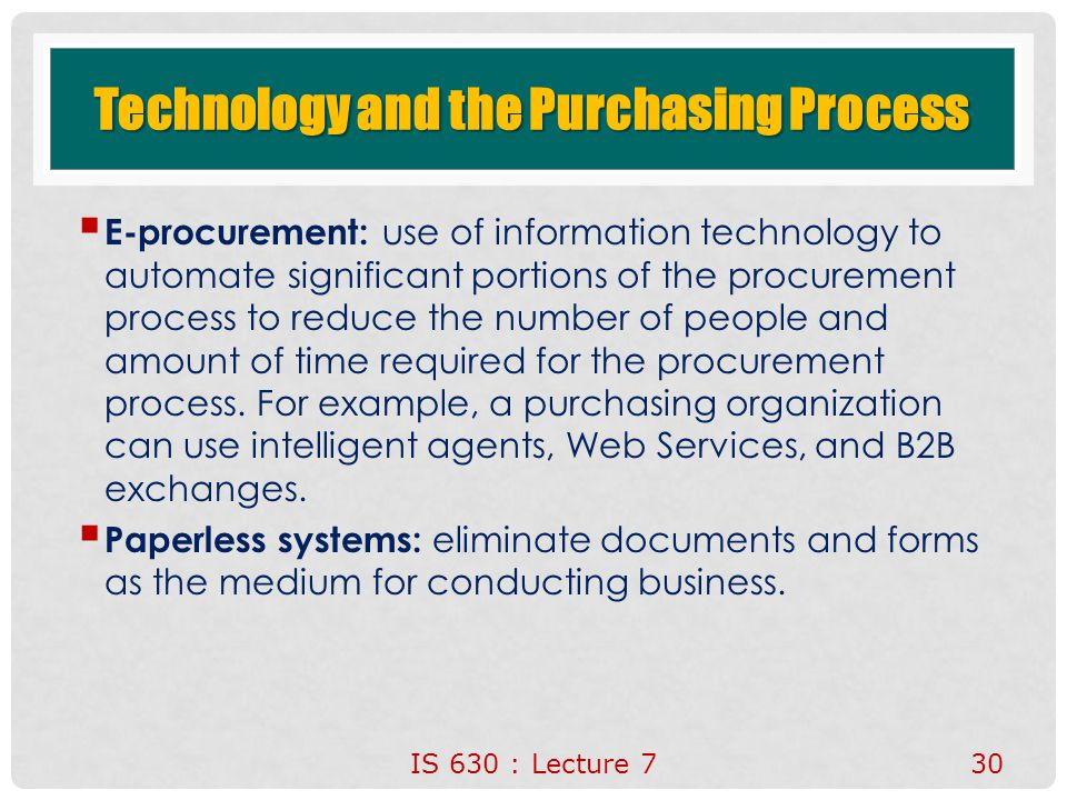 information technology in purchasing Technology purchasing policy purpose information technology (it) is charged with supporting college owned computer hardware, software and peripherals in ways that.