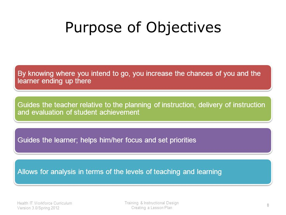 purpose and objectives