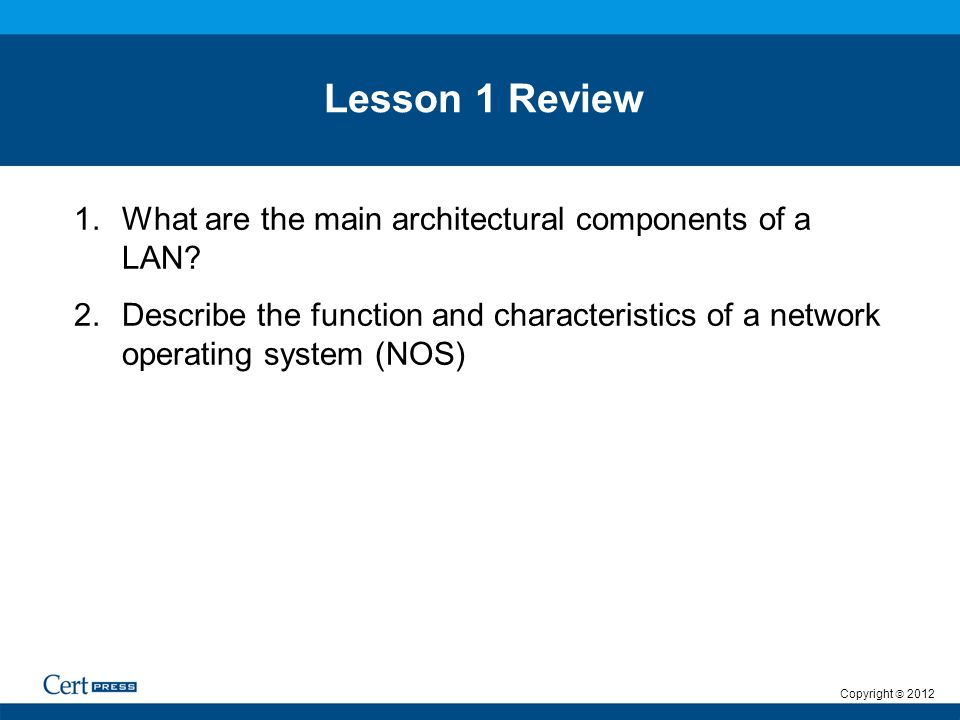 lan and nos architectural components Architectural principles - simplicity is the key attribute of any network architecture - diverse, complex and uncoordinated architectures result in very high implementation and operational costs, and are resistant to subsequent incremental engineering.