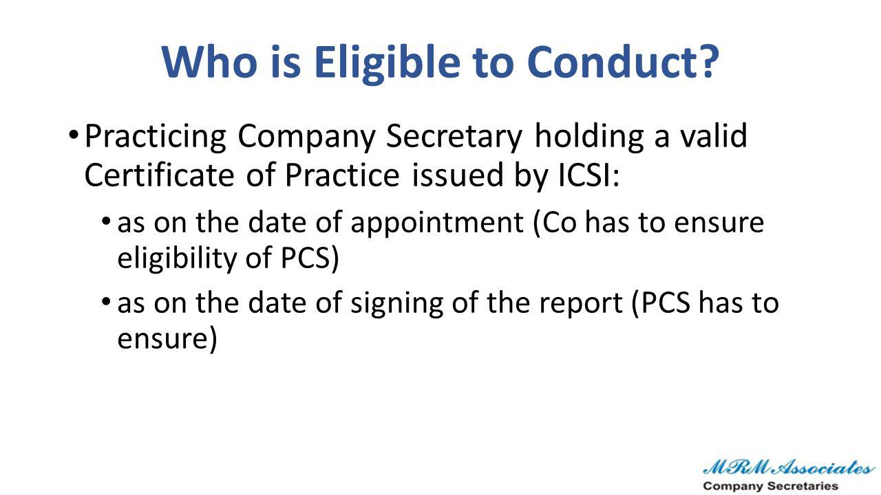 Statutory Provisions & ICSI Views