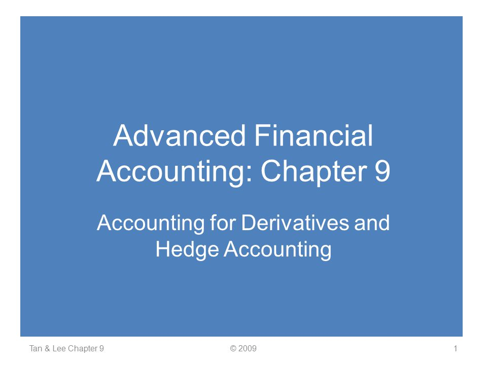 Advanced Financial Accounting: Chapter 9