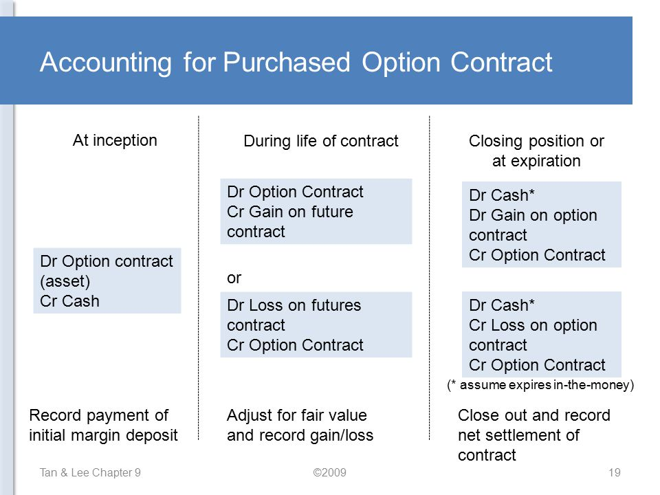 Accounting for Purchased Option Contract