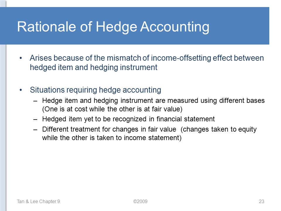 Rationale of Hedge Accounting