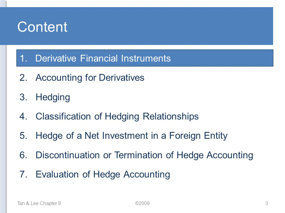 Content Derivative Financial Instruments