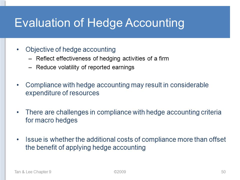 Evaluation of Hedge Accounting