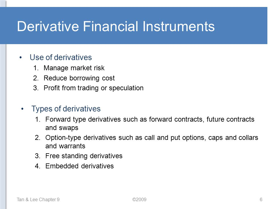 Derivative Financial Instruments