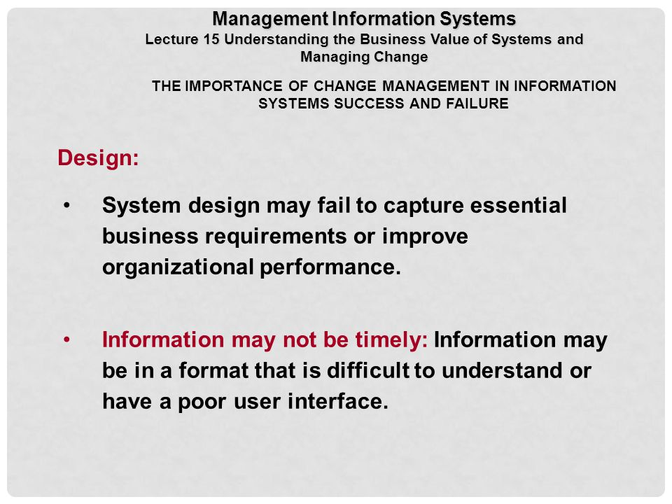 organizational design failure Effective pm will help your organization raise individual performance, foster ongoing employee and supervisor development, and increase overall organizational effectiveness about strategic planning strategic planning is a critical step in the management of any organization, regardless of the level.