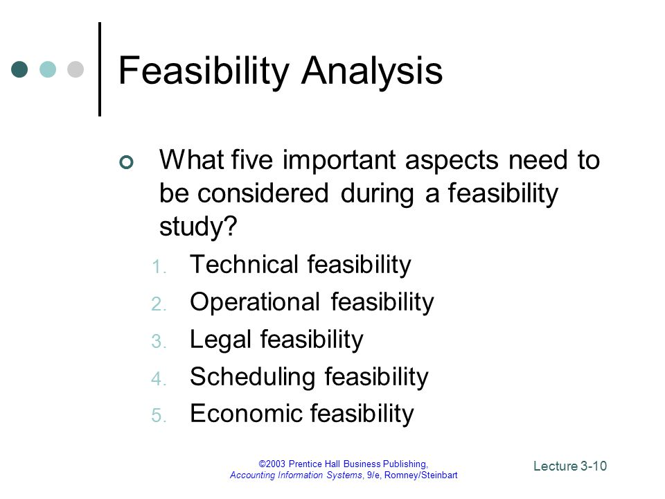 aspects of feasibility