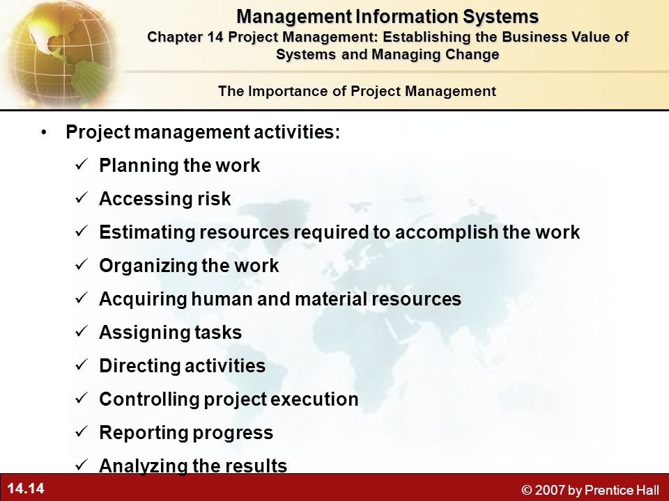Importance of information management