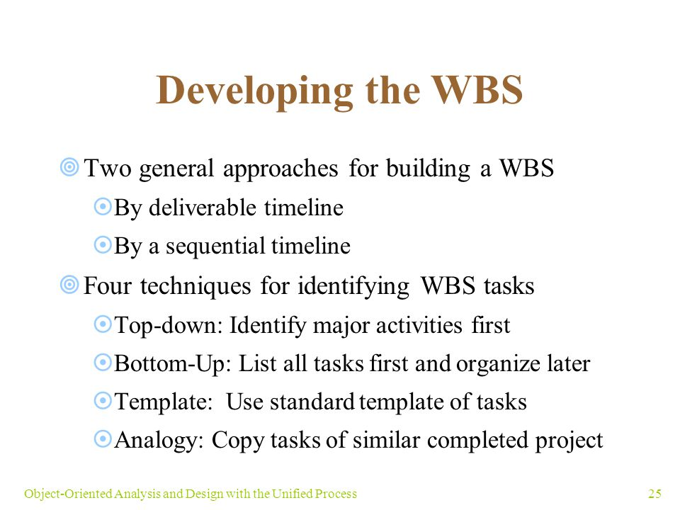 WBS Types (Work Breakdown Structure)