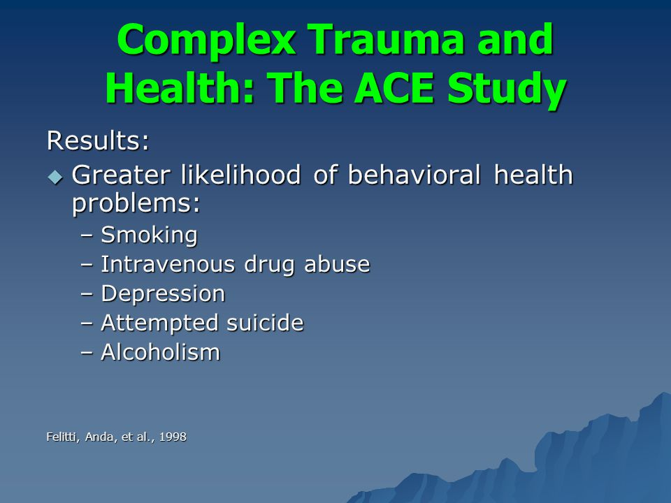 Aces study and substance abuse