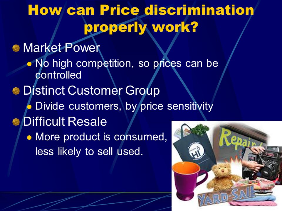 How can Price discrimination properly work