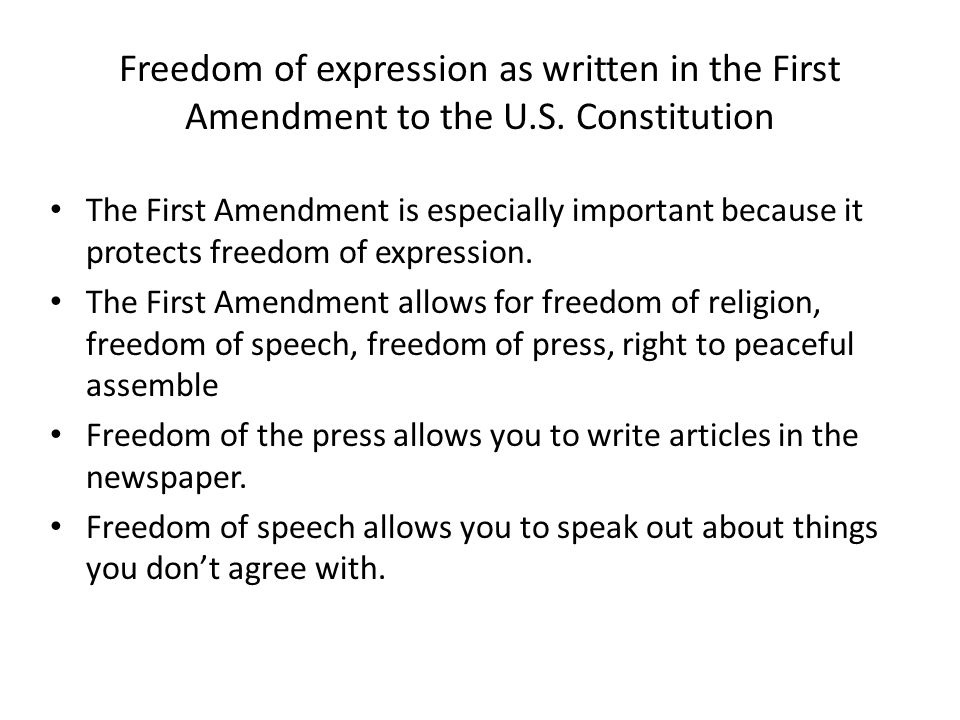 an analysis of freedom of expression Basic free speech analysis russell w galloway i introduction the first amendment protects freedom of expression, a composite constitutional right that includes freedom of speech.
