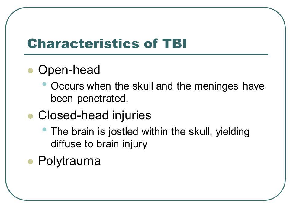 Adult closed head injury