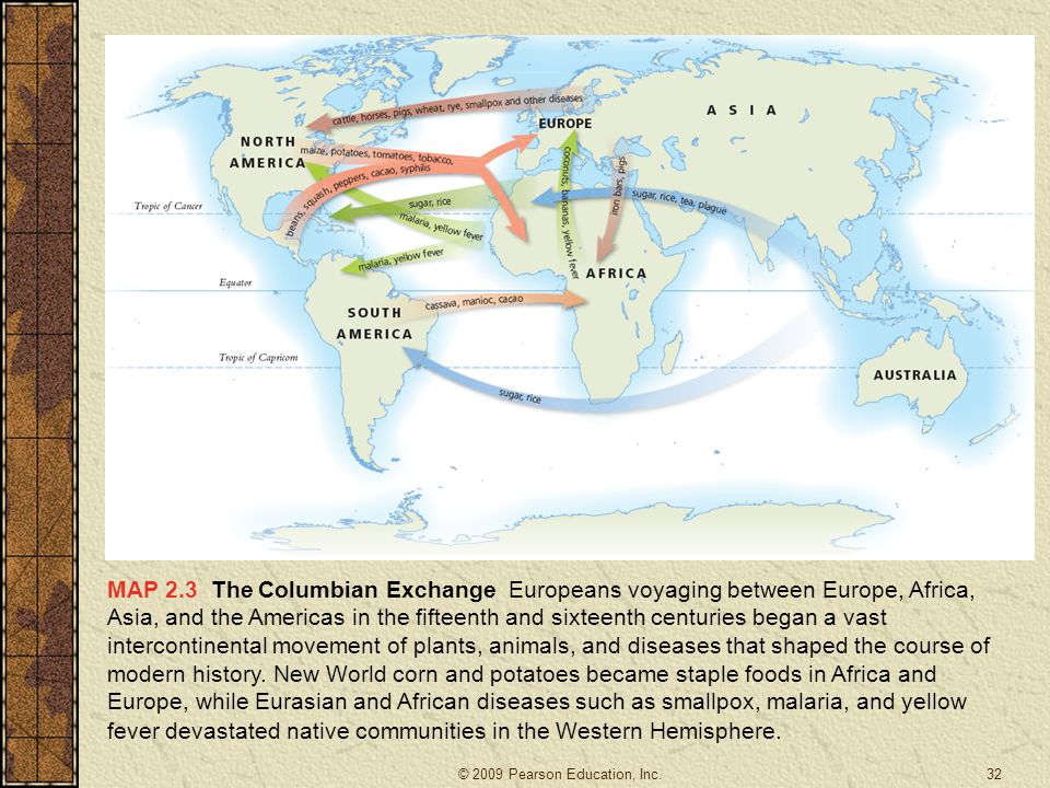 What are some effects still seen today with the Columbian Exchange?