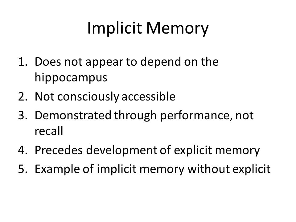 The Neuropsychology Of Memory Ppt Video Online Download