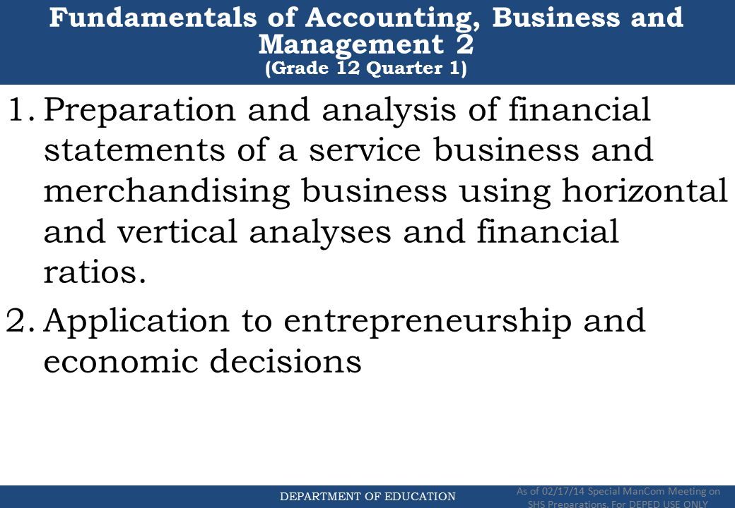 Fundamental decisions in financial management