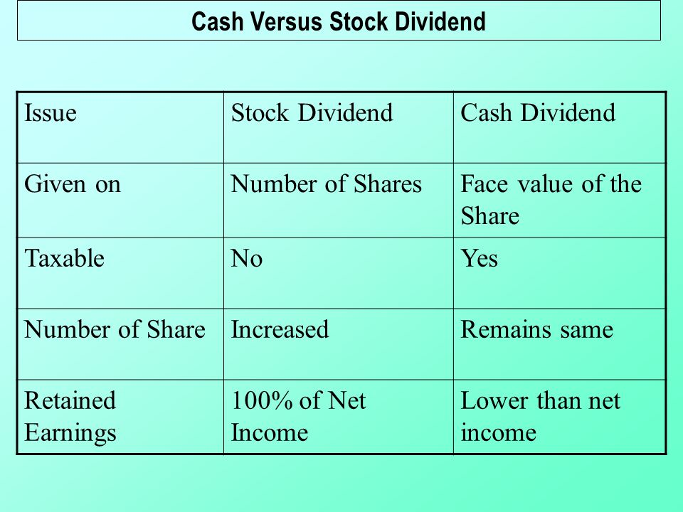 Cash bonus vs stock options