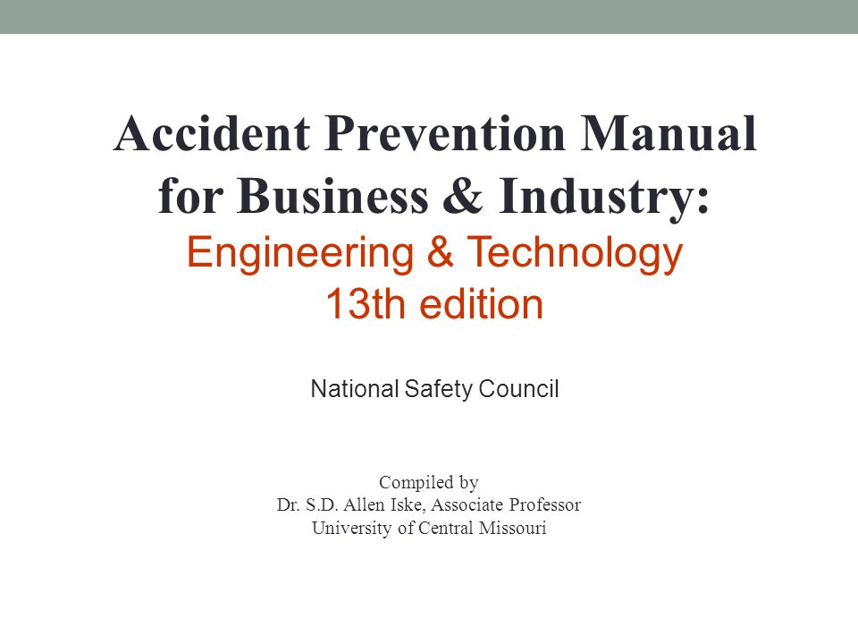accident prevention manual for business industry ppt video rh slideplayer com accident prevention manual for business and industry administration & programs 14ed accident prevention manual for business and industry 13th edition