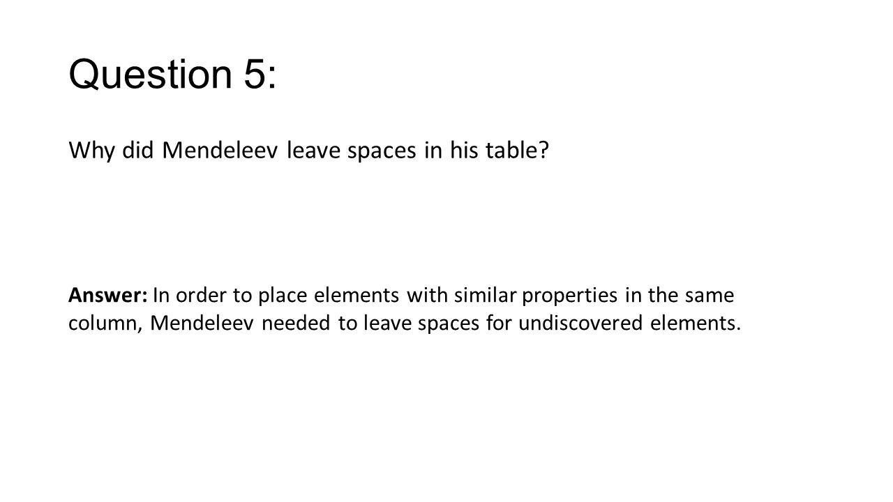 Organizing the elements worksheet answer key