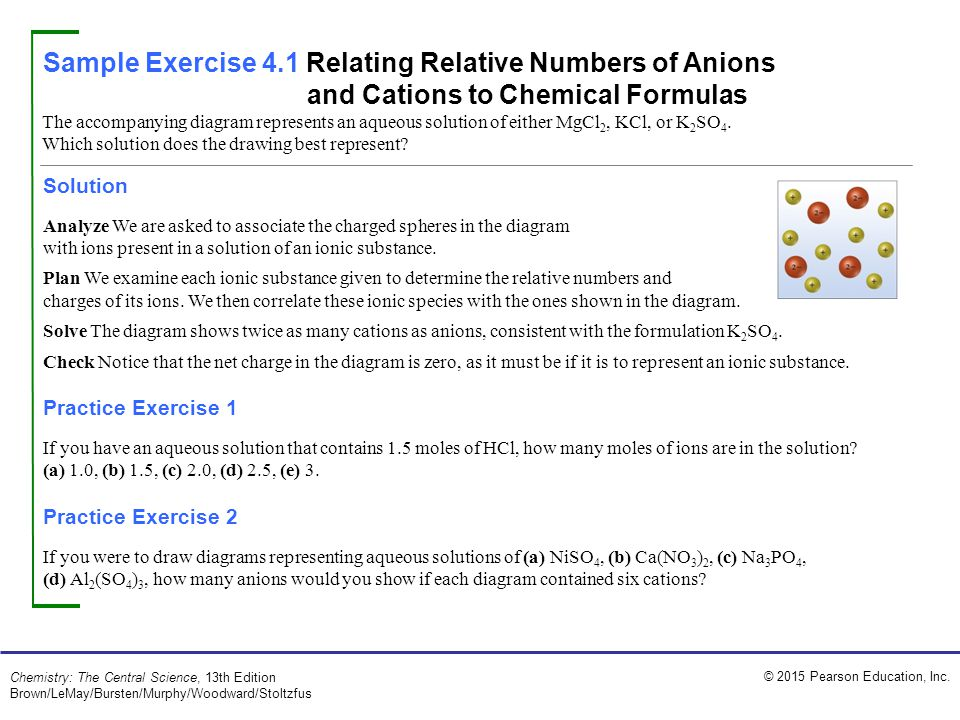 Sample Exercise 4.1 Relating Relative Numbers of Anions and ...