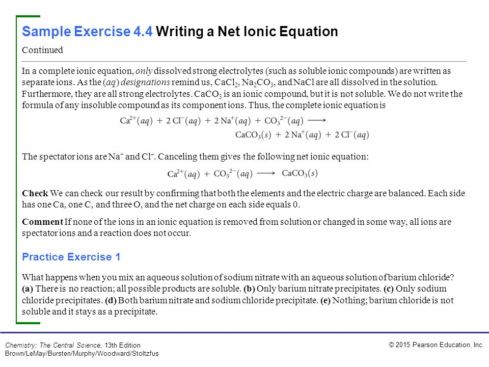 sample exercise relating relative numbers of anions and 7 sample