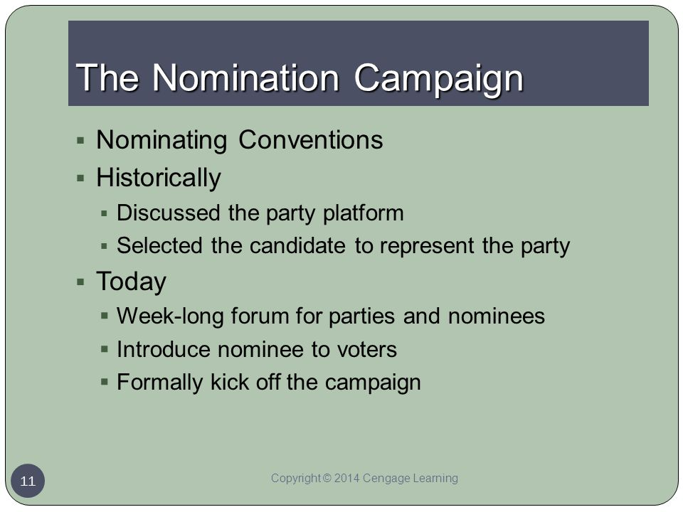 The Nomination Campaign