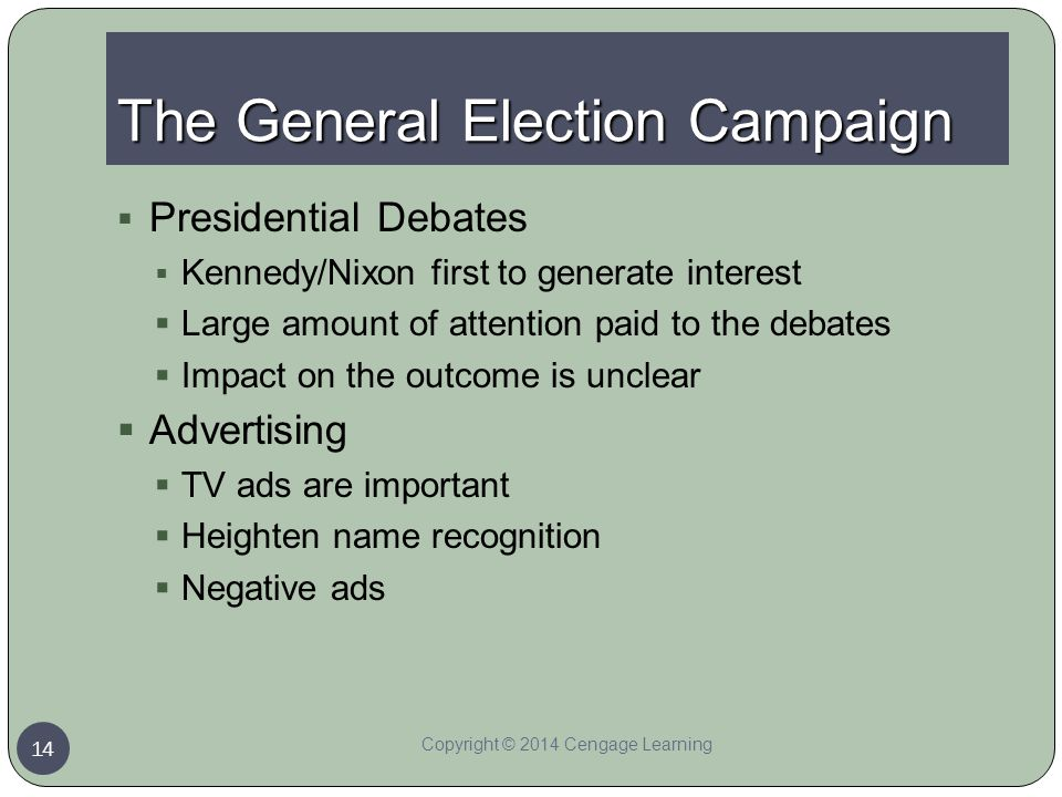 The General Election Campaign