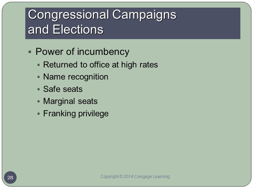 Congressional Campaigns and Elections