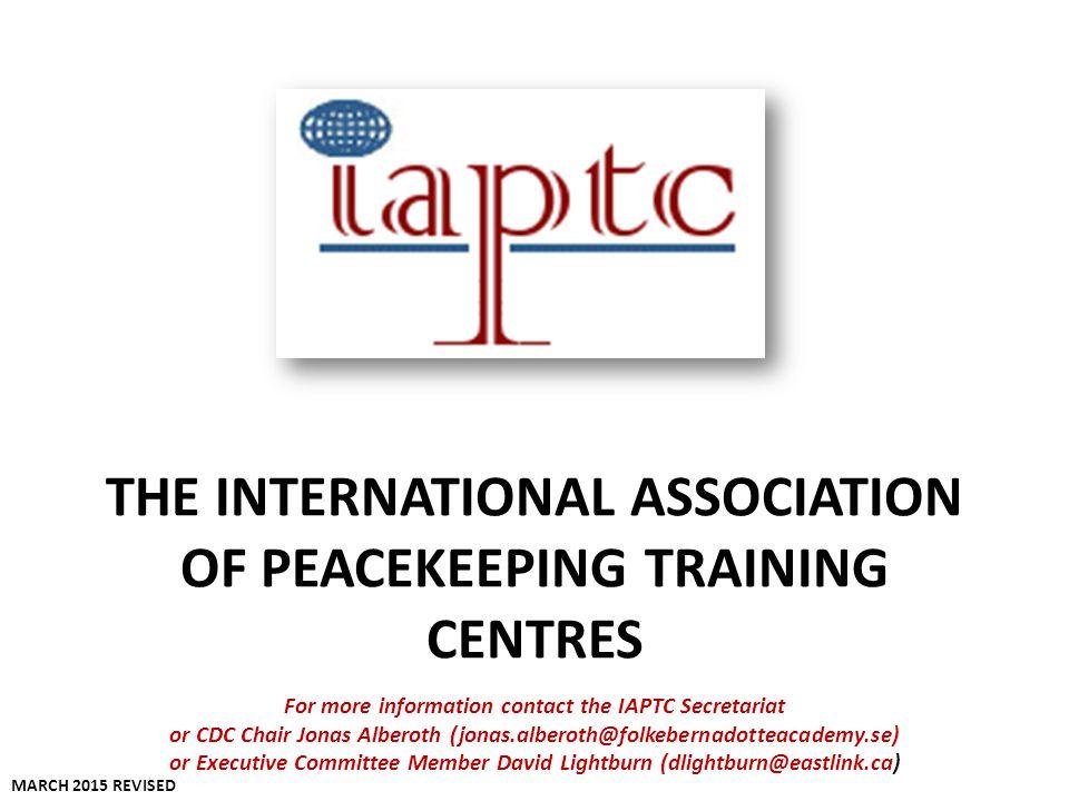 The International Association Of Peacekeeping Training