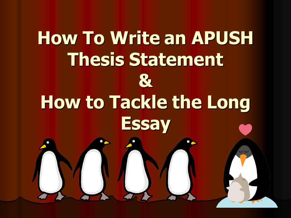 apush long essay Apush dbq and rubric breakdown point-by-point (with examples.