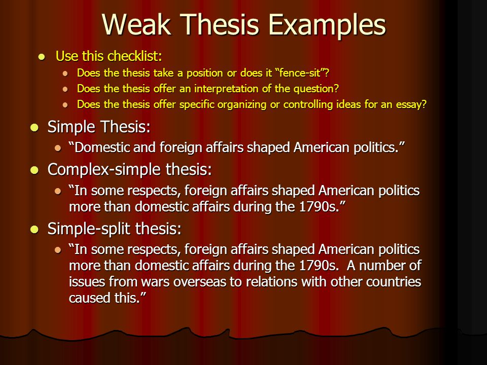 complex thesis statement How to write an ap us history thesis statement complex thesis offers students the best opportunity to earn how to write an ap us history thesis statement.